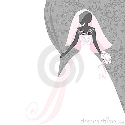 Bride in a veil Vector Illustration