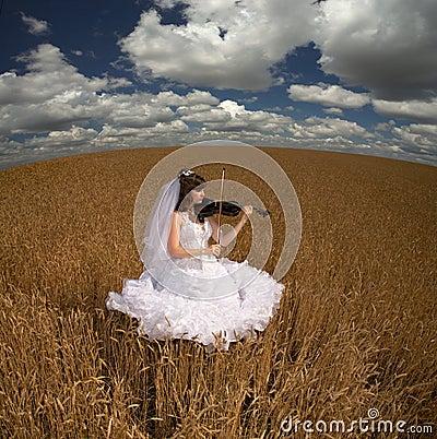 Bride & violin