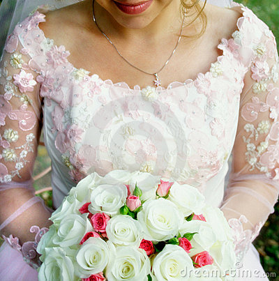 Bride with Wedding bouquet
