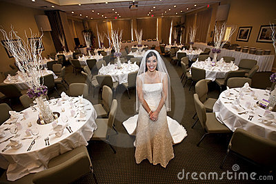 Bride in wedding venue