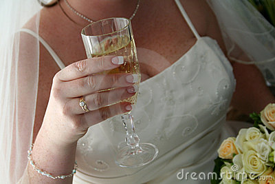 Bride & Wine Glass