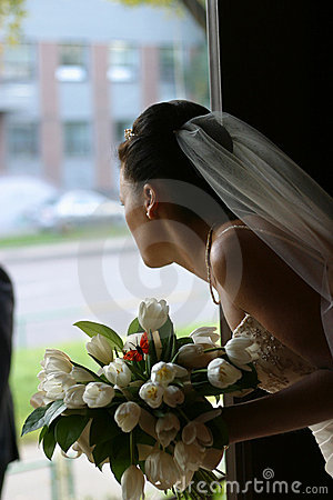 Free Bride With A Bouquet Stock Photography - 1821802