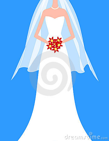 Free Bride With Bouquet Royalty Free Stock Image - 5943916