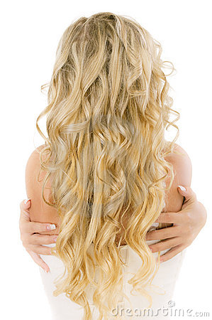 Free Bride With Long Fair Hair From Back Stock Photo - 14046480