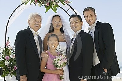 BrideGroom  best man and family
