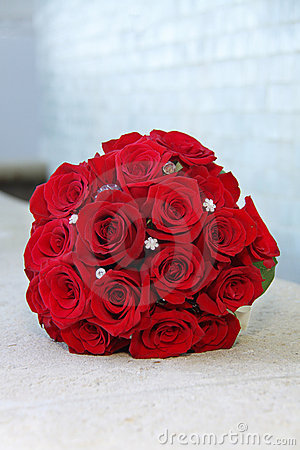 Brides Bouquet of red roses