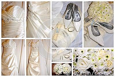 Brides items collage