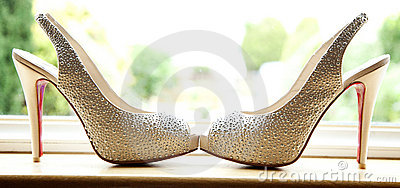 Brides Pearl Ivory Coloured Shoes