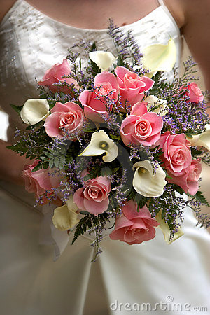 Free Brides Pink Bouquet Royalty Free Stock Images - 179119