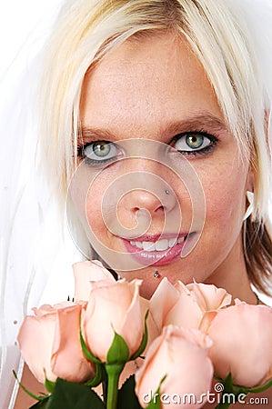 Brides portrait with roses