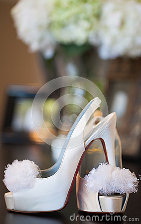 Brides red sole high heels