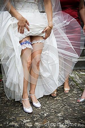 Brides wedding garter