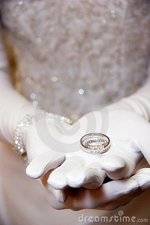 Brides wedding ring