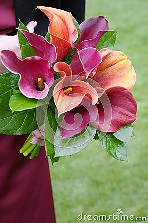 Bridesmaid Holding Bouquet