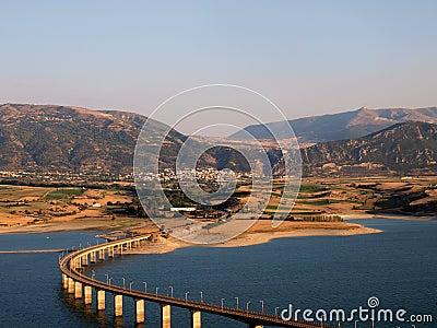 Bridge across Greek lake