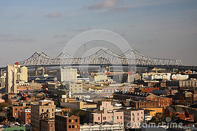 Bridge across the Mississippi River Editorial Stock Image