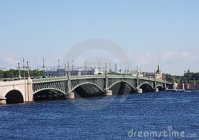 Bridge across the river Neva