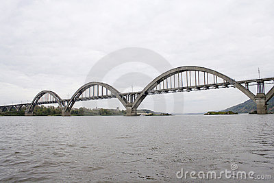 Bridge across the river of Oka