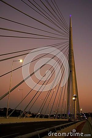 Bridge Ada in Belgrade