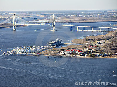 Bridge and aircraft carrier