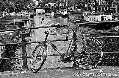 On a bridge of Amsterdam