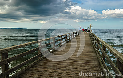 Bridge on Baltic Sea