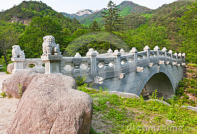 The bridge at Buddhist Sinheungsa Temple