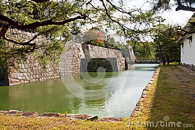 Bridge into castle in Kyoto