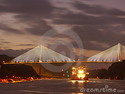 The bridge Centenario in republic Panama
