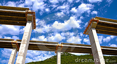 Bridge in construction