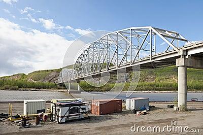 Bridge and construction site