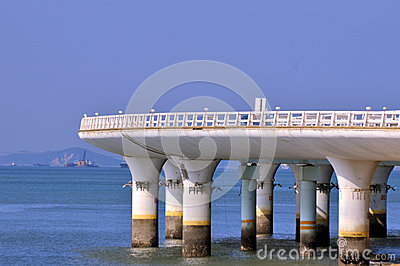 Bridge curve at sea coast