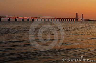 Bridge between Denmark and Sweden