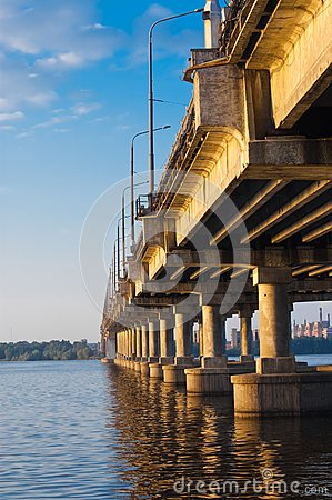 Bridge on dnepr river