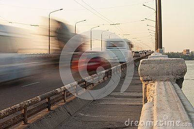 Bridge on dnepr river