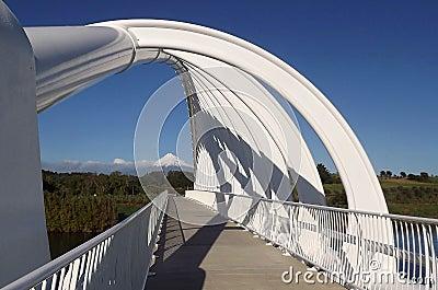 Bridge Framing Beautiful Mountain View
