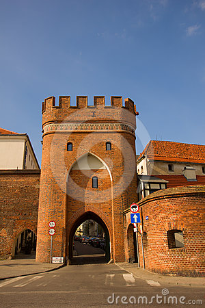 Bridge gate, Torun, Poland