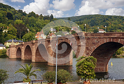 Bridge in heidelberg germany