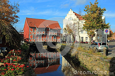 Bridge house in Wismar Editorial Image