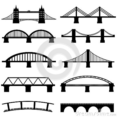 Free Bridge Icons Set Stock Photography - 41997082