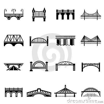 Free Bridge Icons Set, Simple Style Stock Photos - 96504243