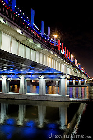 Bridge with Illuminated