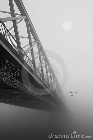 Free Bridge In The Fog Royalty Free Stock Photo - 10366465