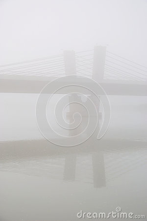 Free Bridge In The Fog Royalty Free Stock Image - 36986826