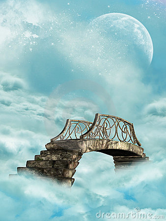 Free Bridge In The Sky Royalty Free Stock Image - 6941036