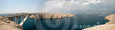 The bridge of the island of Pag