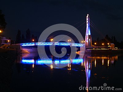 The bridge of kisses on the river Kuban