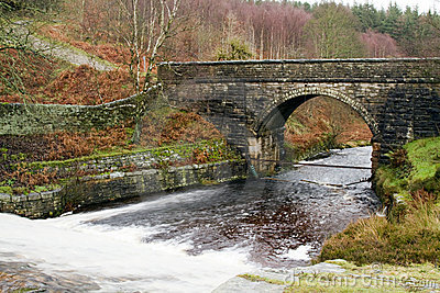 The bridge at langsett reservoir