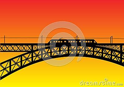 Bridge with metro