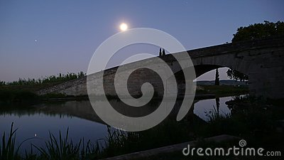 Bridge in the moonlight